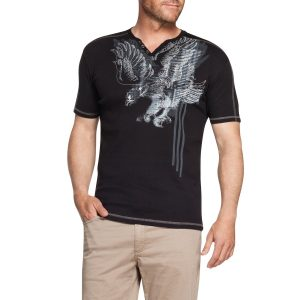 Fashion 4 Men - Tarocash Emblem Printed Tee Black Xxxl
