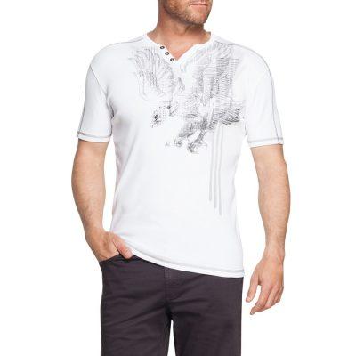 Fashion 4 Men - Tarocash Emblem Printed Tee White 4 Xl