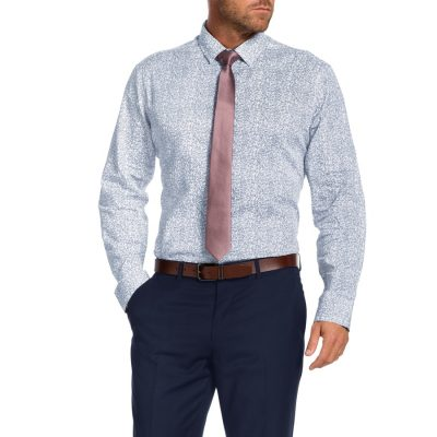 Fashion 4 Men - Tarocash Embley Print Shirt White Xl