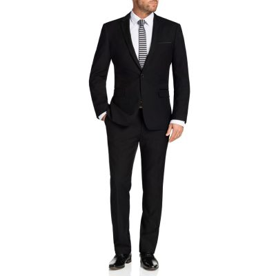 Fashion 4 Men - Tarocash Gibson Trim Suit Black 40