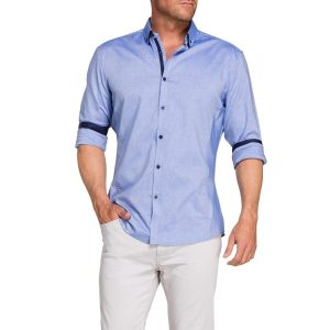 Fashion 4 Men - Tarocash Hanover Oxford Shirt Blue S
