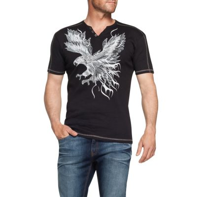 Fashion 4 Men - Tarocash Hunter Printed Tee Black 4 Xl