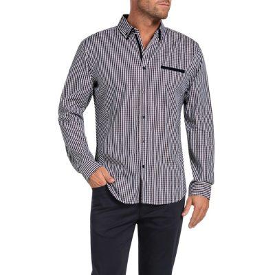 Fashion 4 Men - Tarocash Jack Check Shirt Berry S