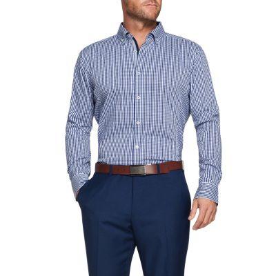 Fashion 4 Men - Tarocash Jetson Slim Check Shirt Navy Xl