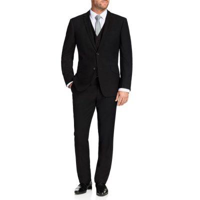 Fashion 4 Men - Tarocash Ledger 2 Button Suit Black 44