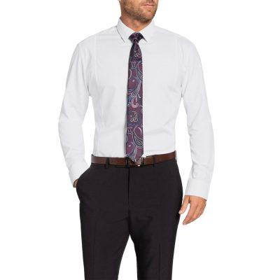Fashion 4 Men - Tarocash Lennox Textured Dress Shirt White S