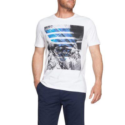 Fashion 4 Men - Tarocash Metropolis Printed Tee White L