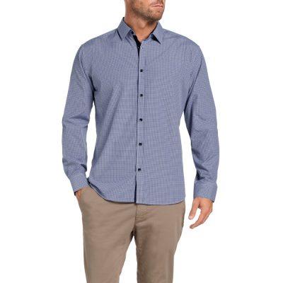 Fashion 4 Men - Tarocash Mitchell Check Shirt Navy S