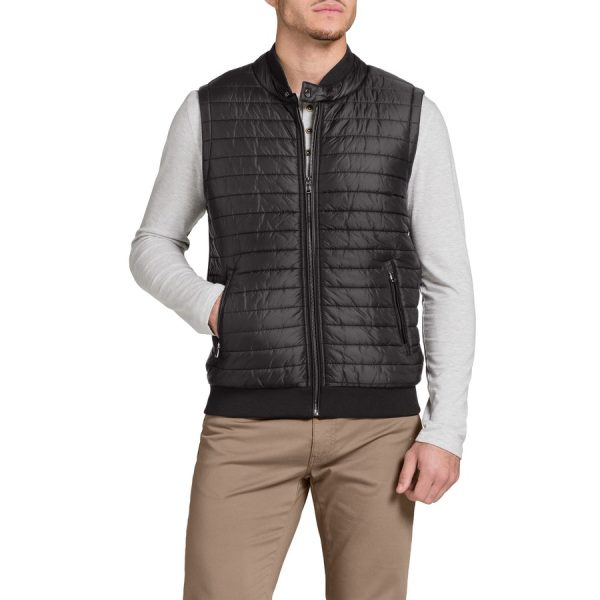 Fashion 4 Men - Tarocash Mitchell Puffer Vest Black M
