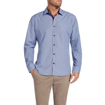 Fashion 4 Men - Tarocash Morgan Check Shirt Blue L