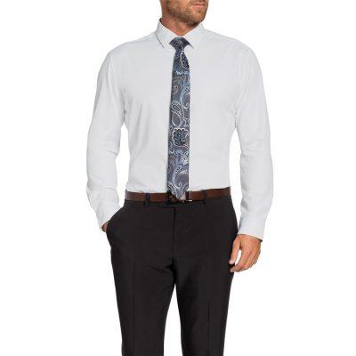 Fashion 4 Men - Tarocash Nelson Textured Dress Shirt White M