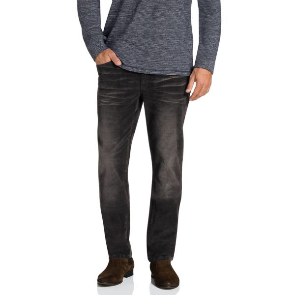 Fashion 4 Men - Tarocash Newport Stretch Cord Charcoal 33