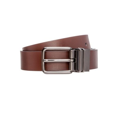 Fashion 4 Men - Tarocash Nickolai Reversible Prong Belt Choc/Black 32