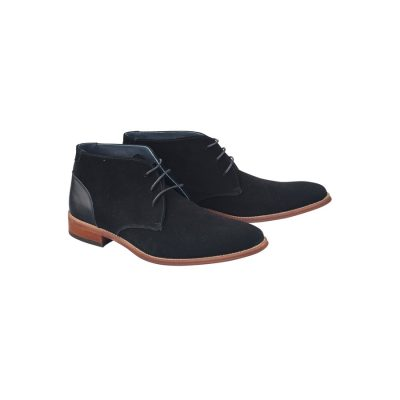 Fashion 4 Men - Tarocash Nickolai Suede Boot Black 7