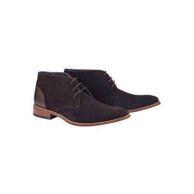 Fashion 4 Men - Tarocash Nickolai Suede Boot Chocolate 11