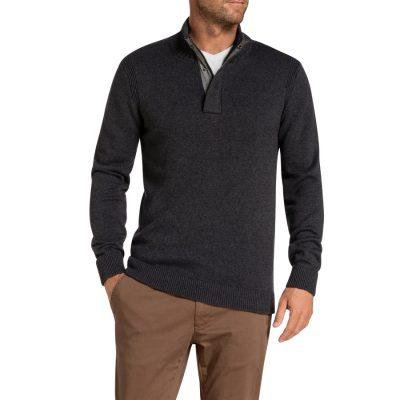 Fashion 4 Men - Tarocash Nielson Knit Charcoal S