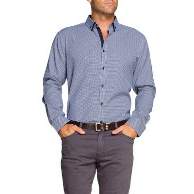Fashion 4 Men - Tarocash Osborne Jacquard Shirt Navy S