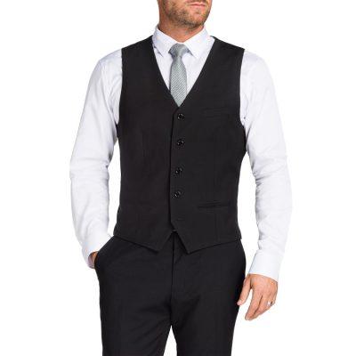 Fashion 4 Men - Tarocash Paramount Waistcoat Black L