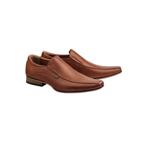 Fashion 4 Men - Tarocash Patrick Slip On Shoe Tan 8