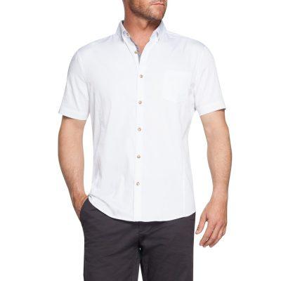 Fashion 4 Men - Tarocash Patrick Stretch Shirt White Xxl