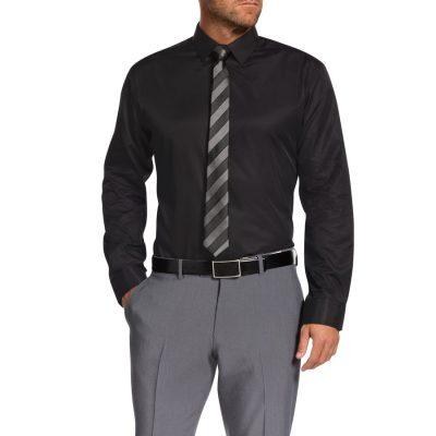 Fashion 4 Men - Tarocash Pembrey Slim Dress Shirt Black Xl