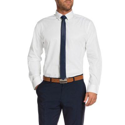 Fashion 4 Men - Tarocash Pimlico Textured Dress Shirt Ivory Xxxl