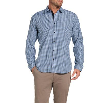 Fashion 4 Men - Tarocash Powell Check Shirt Navy Xl