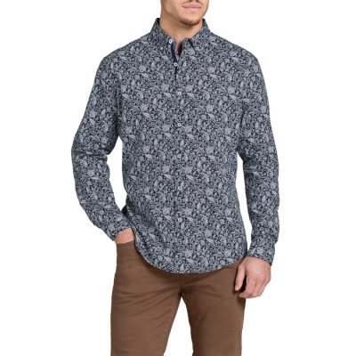 Fashion 4 Men - Tarocash Prince Paisley Print Shirt Navy M
