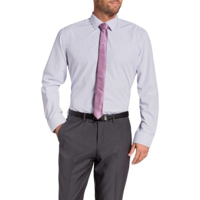 Fashion 4 Men - Tarocash Redfern Check Dress Shirt Lilac L
