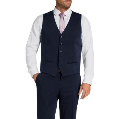 Fashion 4 Men - Tarocash Reece Waistcoat Navy Xs