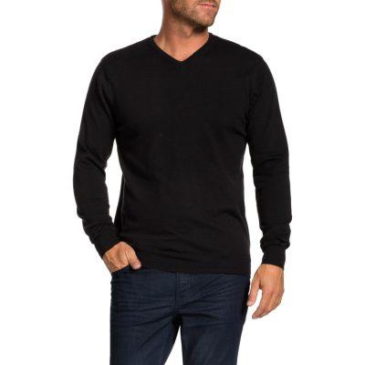 Fashion 4 Men - Tarocash Reese V Neck Knit Black Xxl