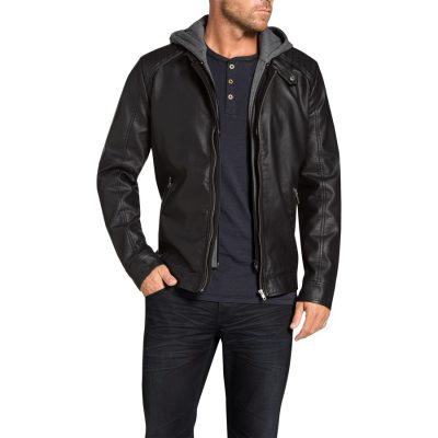 Fashion 4 Men - Tarocash Regan Pu Bomber Jacket Black Xl