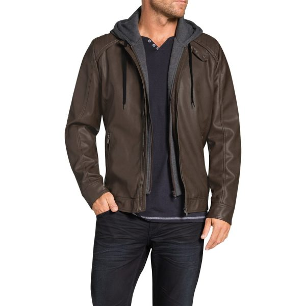 Fashion 4 Men - Tarocash Regan Pu Bomber Jacket Tobacco Xl