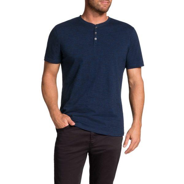 Fashion 4 Men - Tarocash Rex Henley Tee Cobalt 4 Xl