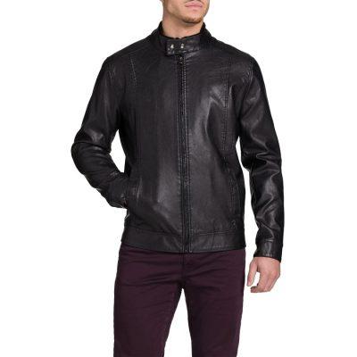 Fashion 4 Men - Tarocash Selwood Pu Bomber Jacket Black M