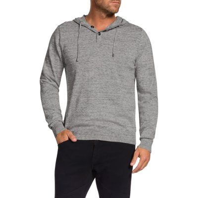 Fashion 4 Men - Tarocash Spencer Hooded Knit Ice L