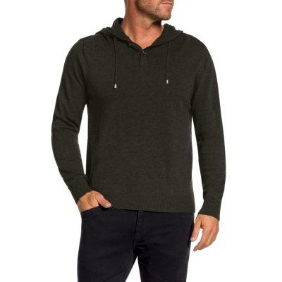 Fashion 4 Men - Tarocash Spencer Hooded Knit Khaki L