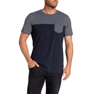 Fashion 4 Men - Tarocash Spliced Tee Navy L