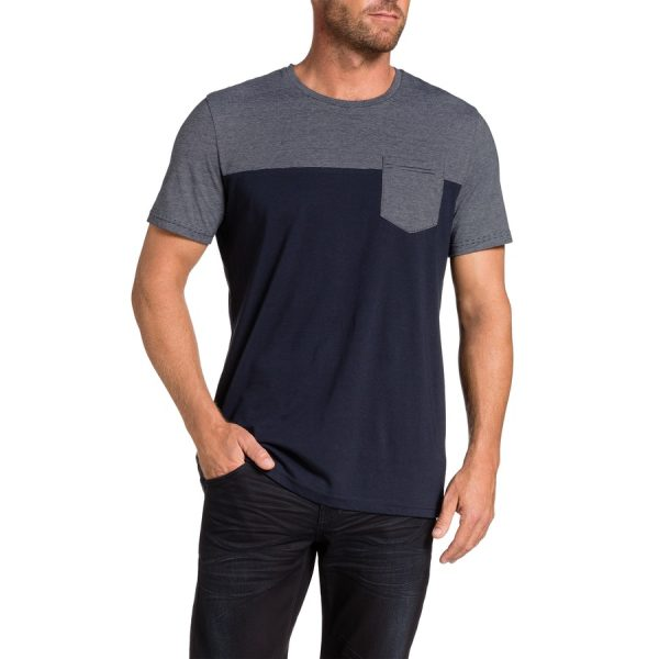 Fashion 4 Men - Tarocash Spliced Tee Navy Xxxl