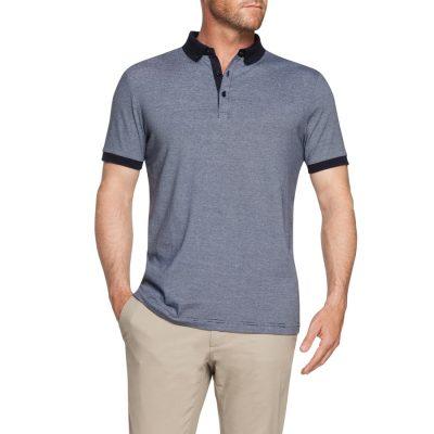 Fashion 4 Men - Tarocash Stanwell Stripe Polo Navy L