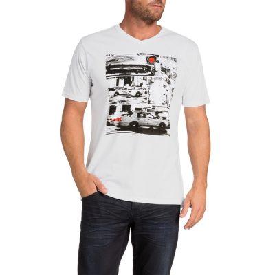 Fashion 4 Men - Tarocash Taxi Print Tee White Xl