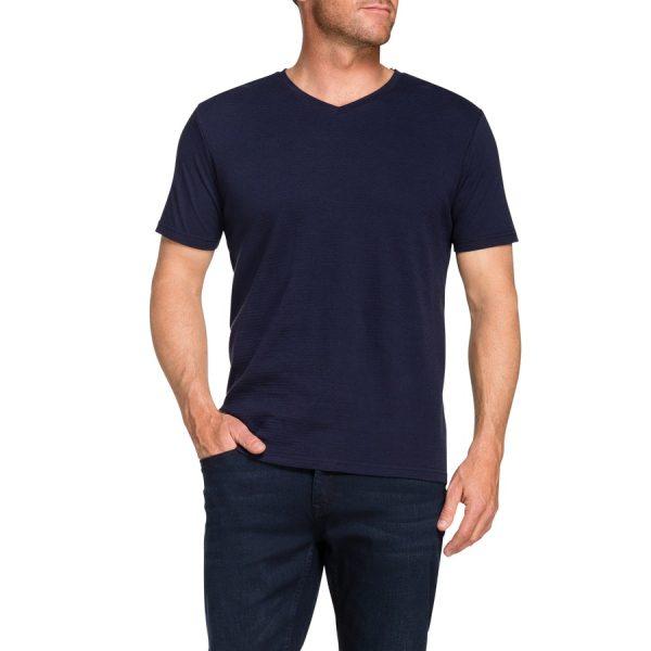 Fashion 4 Men - Tarocash Textured Rib Tee Navy Xxl