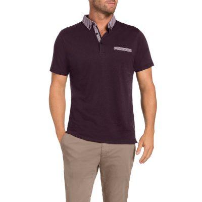 Fashion 4 Men - Tarocash Utah Polo Burgundy Xxxl