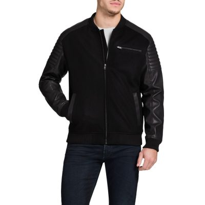 Fashion 4 Men - Tarocash Varsity Moto Jacket Black Xxl