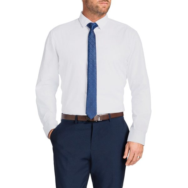 Fashion 4 Men - Tarocash Webster Slim Dress Shirt White Xxl