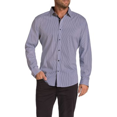 Fashion 4 Men - Tarocash Wilson Check Stretch Shirt Cognac S