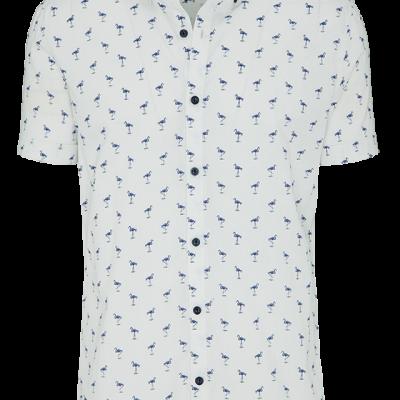 Fashion 4 Men - Blue Flamingo Slim Fit Ss Shirt