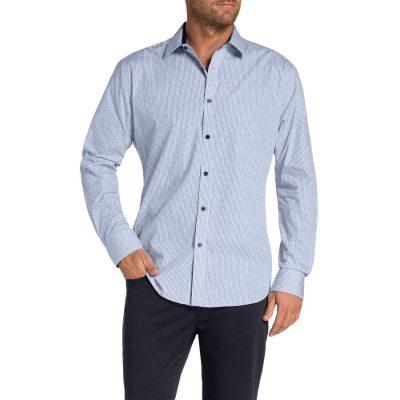 Fashion 4 Men - Tarocash Alnwick Print Shirt Navy M