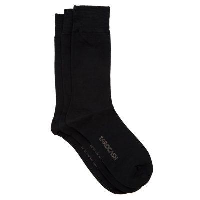 Fashion 4 Men - Tarocash Bamboo 3 Pack Sock Black 1