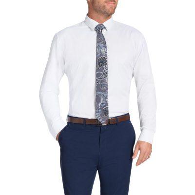 Fashion 4 Men - Tarocash Beckham Slim Shirt White L